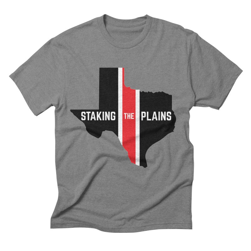 Staking The Plains Vertical Stripe State of Texas Men's Triblend T-Shirt by Staking The Plains