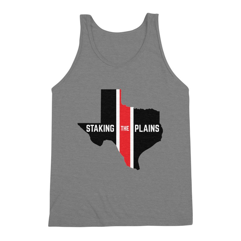 Staking The Plains Vertical Stripe State of Texas Men's Triblend Tank by Staking The Plains