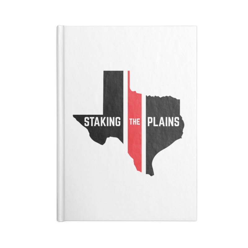 Staking The Plains Vertical Stripe State of Texas Accessories Lined Journal Notebook by Staking The Plains