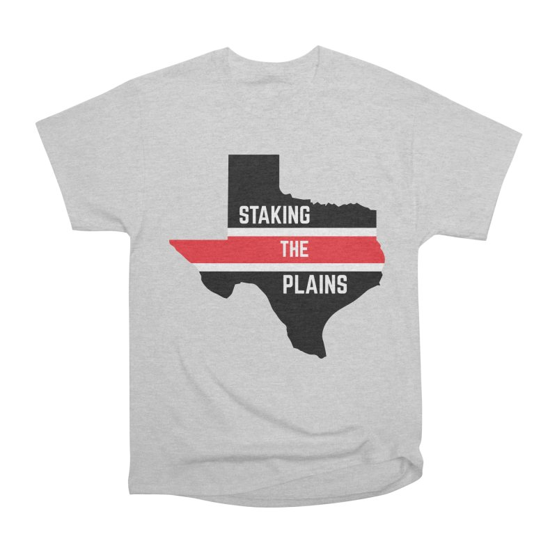 Staking The Plains Horizontal Stripe State of Texas Women's Heavyweight Unisex T-Shirt by Staking The Plains