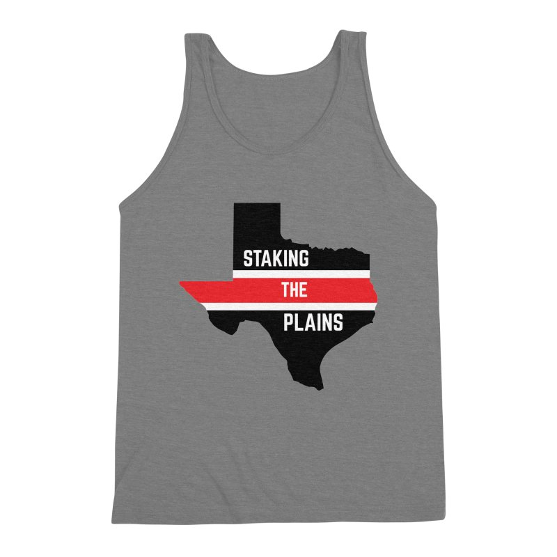Staking The Plains Horizontal Stripe State of Texas Men's Triblend Tank by Staking The Plains