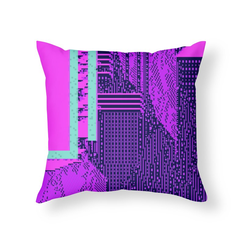 deleted levels Home Throw Pillow by stallio's Artist Shop