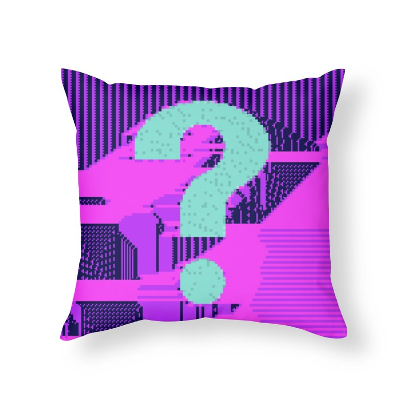 ascii 63 Home Throw Pillow by stallio's Artist Shop