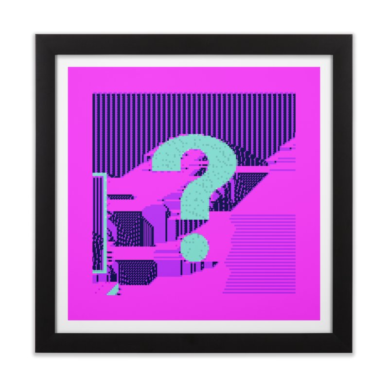 ascii 63 Home Framed Fine Art Print by stallio's Artist Shop