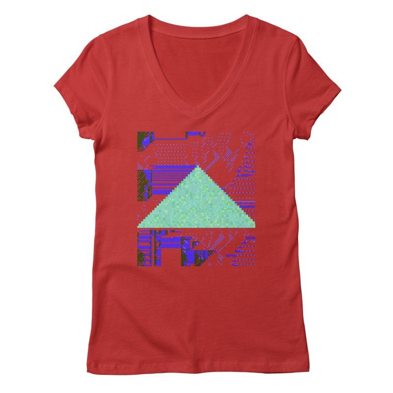 pyramid watch Women's V-Neck by stallio's Artist Shop