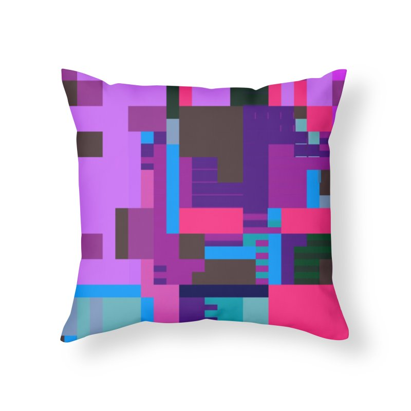 Scrambled Memories Home Throw Pillow by stallio's Artist Shop