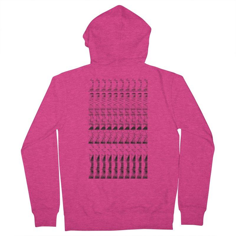 lasso glitch Women's Zip-Up Hoody by stallio's Artist Shop