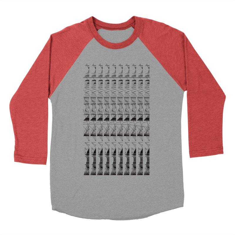 lasso glitch Men's Baseball Triblend T-Shirt by stallio's Artist Shop
