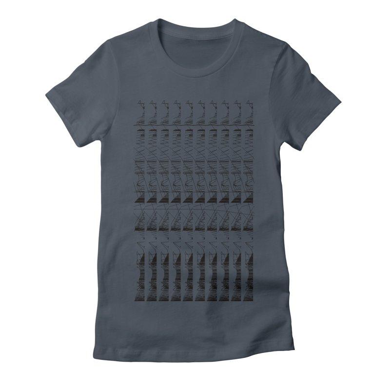 lasso glitch Women's Fitted T-Shirt by stallio's Artist Shop