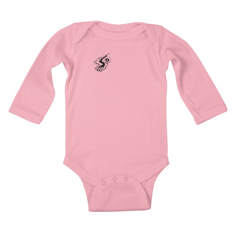 Stampedepress Boney Horn Kids Baby Longsleeve Bodysuit by stampedepress's Artist Shop