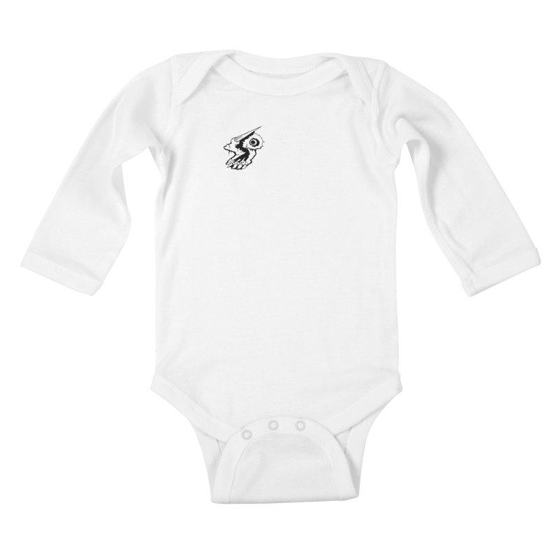 Stampedepress Boney Horn Kids Baby Longsleeve Bodysuit by stampedepress's Artist Shop