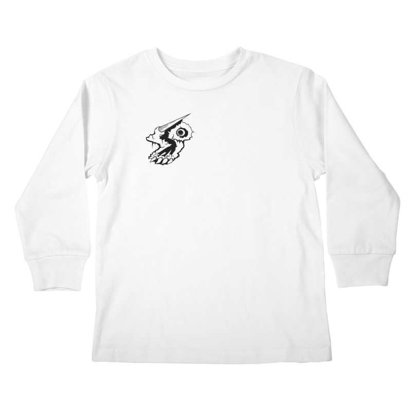 Stampedepress Boney Horn Kids Longsleeve T-Shirt by stampedepress's Artist Shop