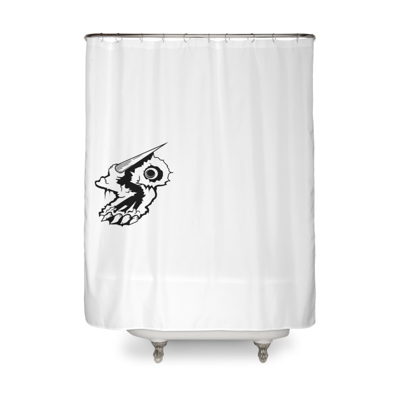Stampedepress Boney Horn Home Shower Curtain by stampedepress's Artist Shop