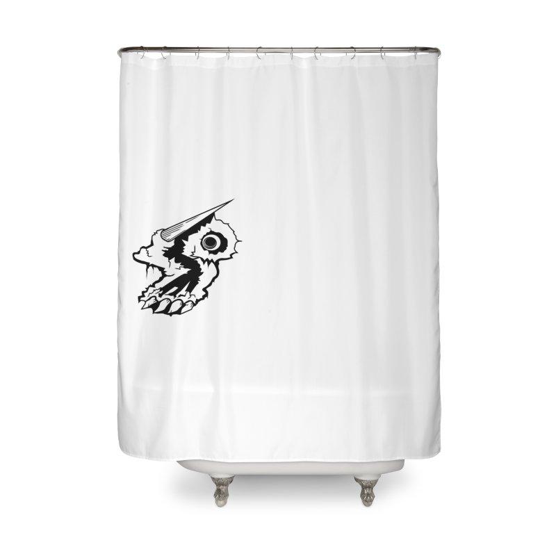 Stampedepress Boney Horn Home Shower Curtain by stampedepress's Artist Shop