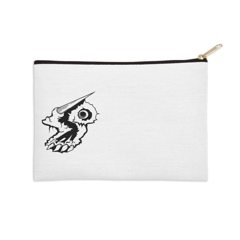 Stampedepress Boney Horn Accessories Zip Pouch by stampedepress's Artist Shop