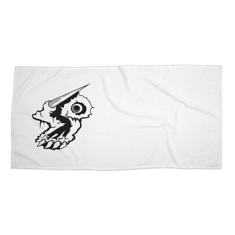 Stampedepress Boney Horn Accessories Beach Towel by stampedepress's Artist Shop
