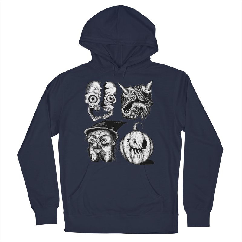 Halloween Heads Women's Pullover Hoody by stampedepress's Artist Shop