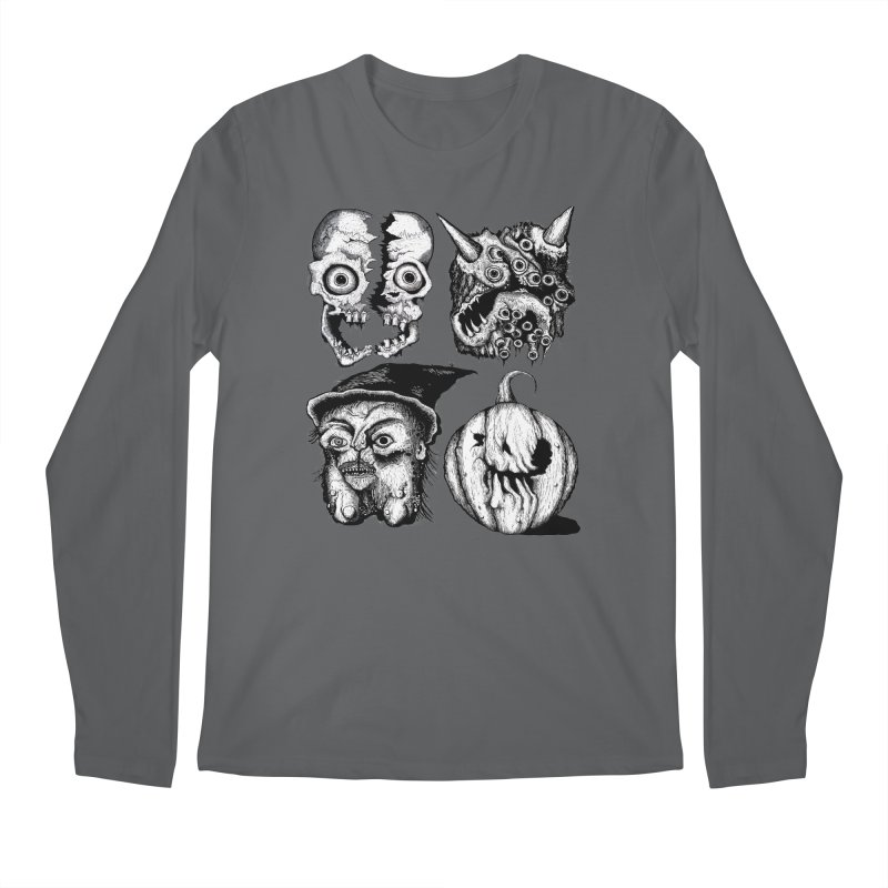Halloween Heads Men's Longsleeve T-Shirt by stampedepress's Artist Shop