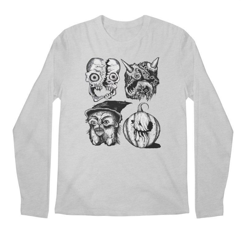 Halloween Heads Men's Longsleeve T-Shirt by stampedepress's Artist Shop