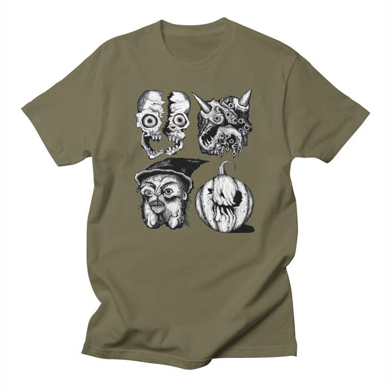Halloween Heads Women's Unisex T-Shirt by stampedepress's Artist Shop