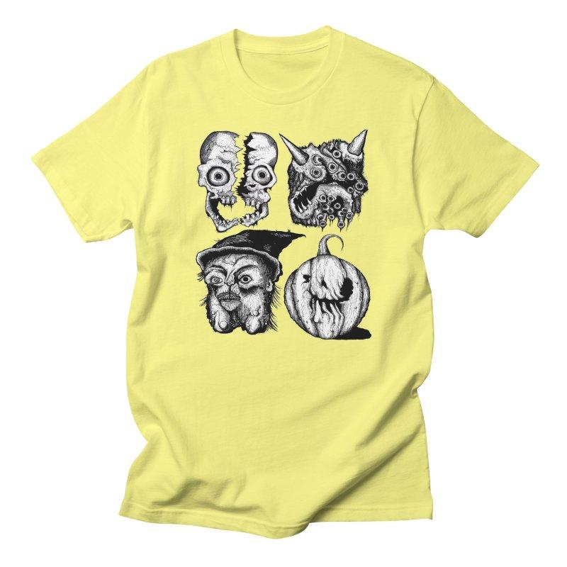 Halloween Heads Men's Regular T-Shirt by stampedepress's Artist Shop