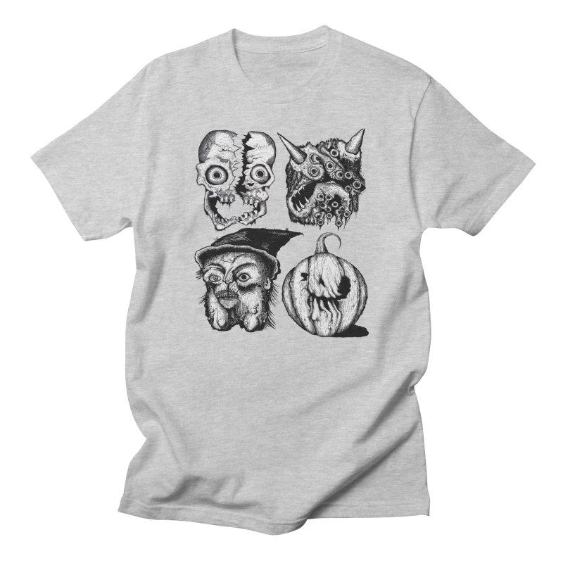 Halloween Heads Men's T-shirt by stampedepress's Artist Shop