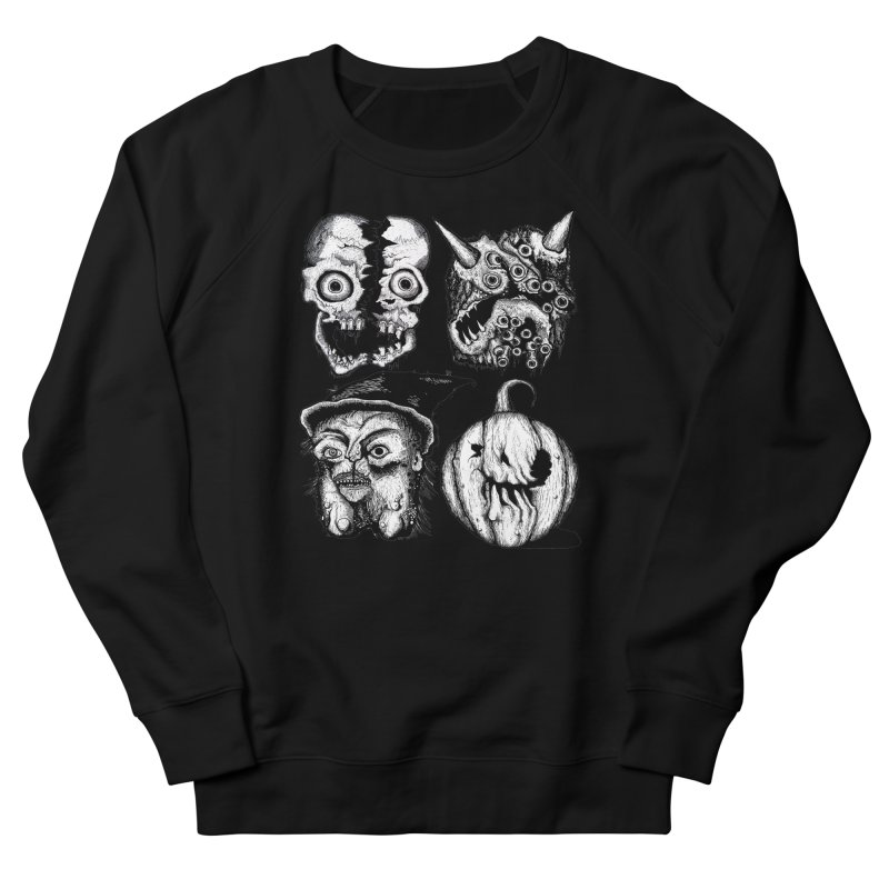 Halloween Heads Women's Sweatshirt by stampedepress's Artist Shop