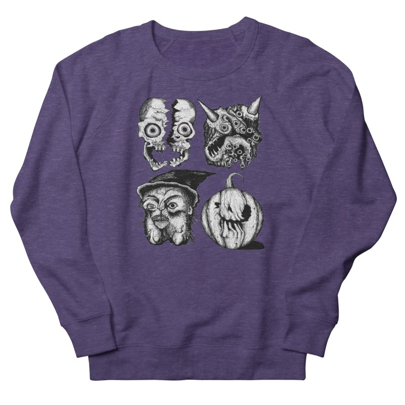 Halloween Heads Men's French Terry Sweatshirt by stampedepress's Artist Shop