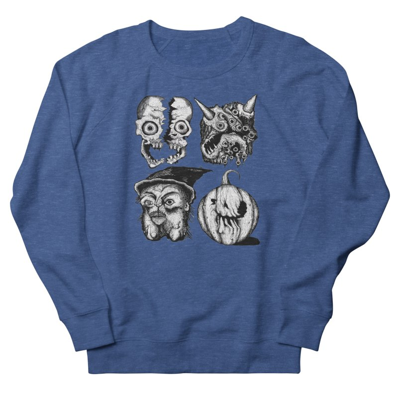 Halloween Heads Men's Sweatshirt by stampedepress's Artist Shop