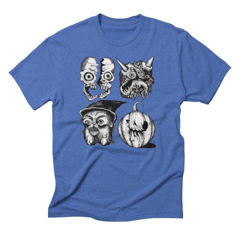 Halloween Heads Men's Triblend T-Shirt by stampedepress's Artist Shop