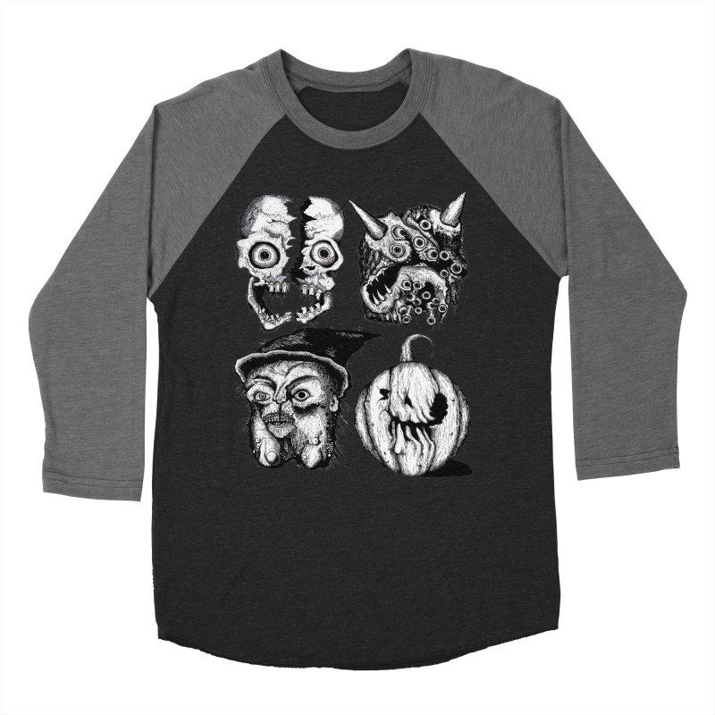 Halloween Heads Men's Baseball Triblend Longsleeve T-Shirt by stampedepress's Artist Shop