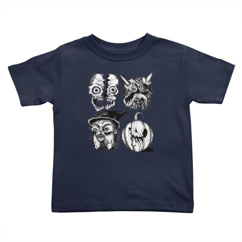 Halloween Heads Kids Toddler T-Shirt by stampedepress's Artist Shop