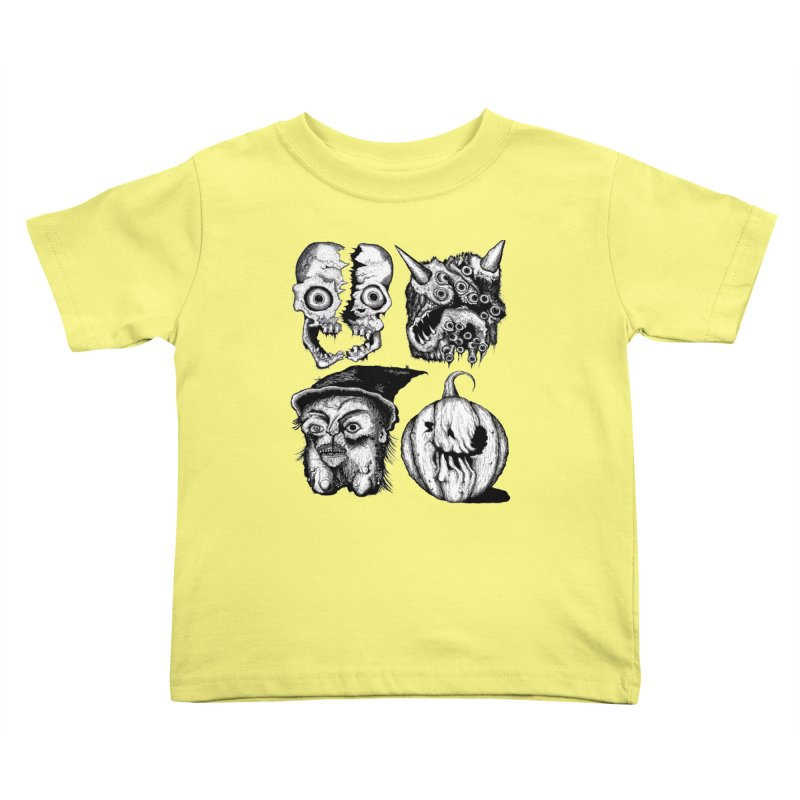 Halloween Heads Kids Toddler T-Shirt by stampedepress's Artist Shop