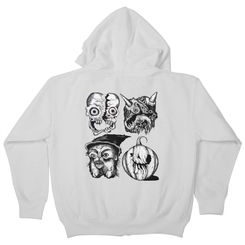 Halloween Heads Kids Zip-Up Hoody by stampedepress's Artist Shop