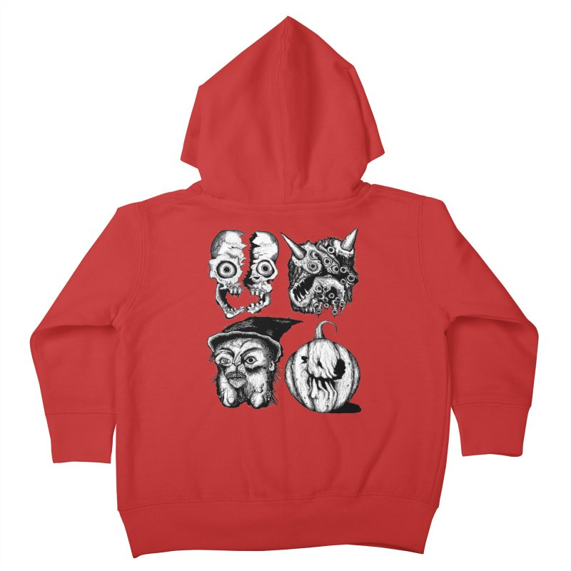Halloween Heads Kids Toddler Zip-Up Hoody by stampedepress's Artist Shop