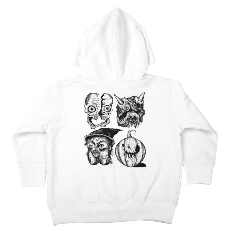 Halloween Heads Kids Toddler Zip-Up Hoody by stampedepress's Artist Shop