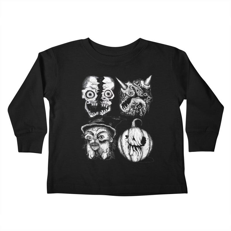 Halloween Heads Kids Toddler Longsleeve T-Shirt by stampedepress's Artist Shop