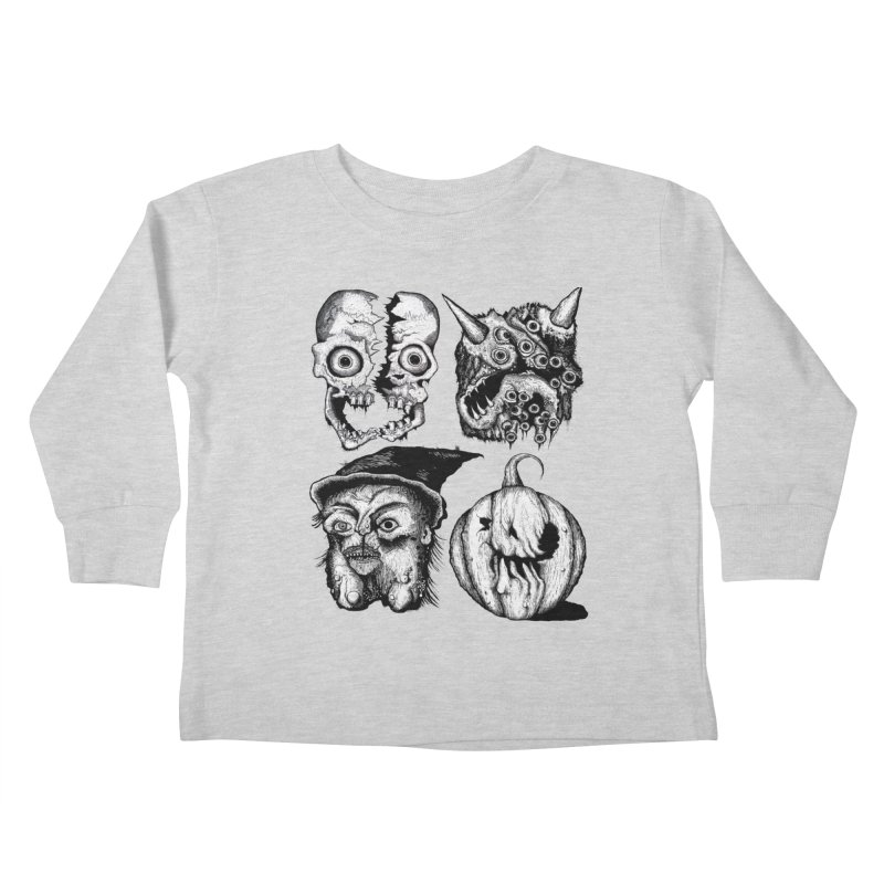 Halloween Heads Kids Toddler Longsleeve T-Shirt by stampedepress's Artist Shop
