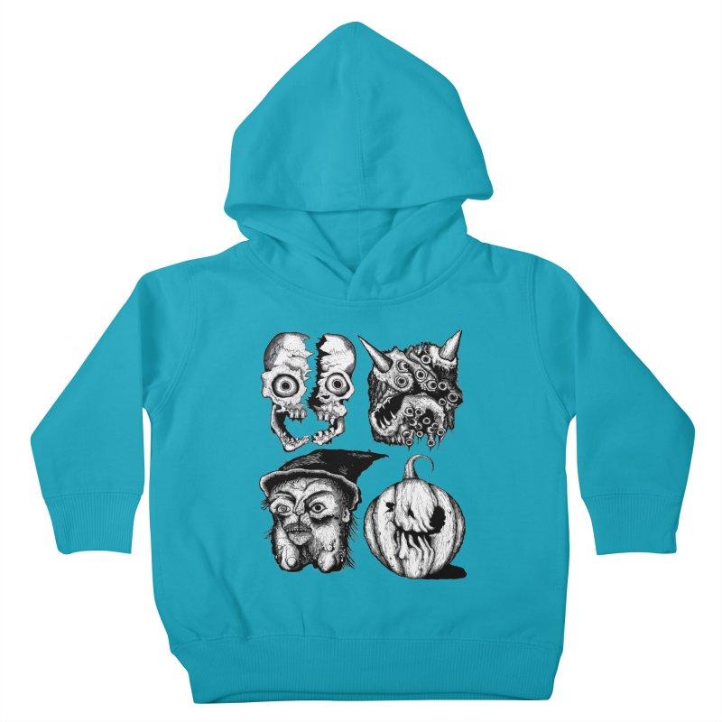 Halloween Heads Kids Toddler Pullover Hoody by stampedepress's Artist Shop