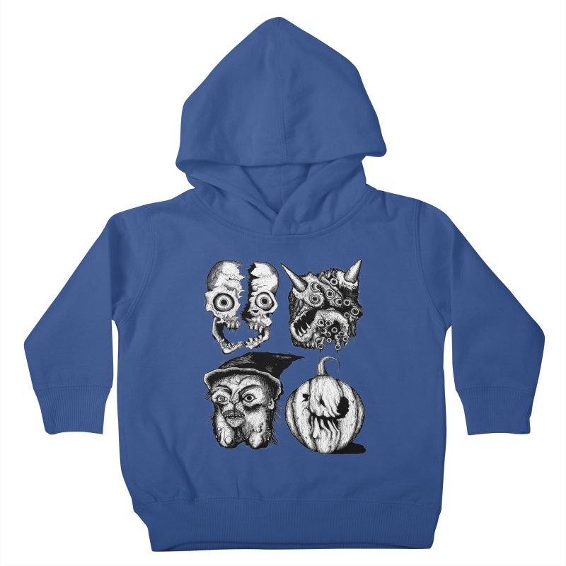 Halloween Heads Kids Toddler Pullover Hoody by stampedepress's Artist Shop