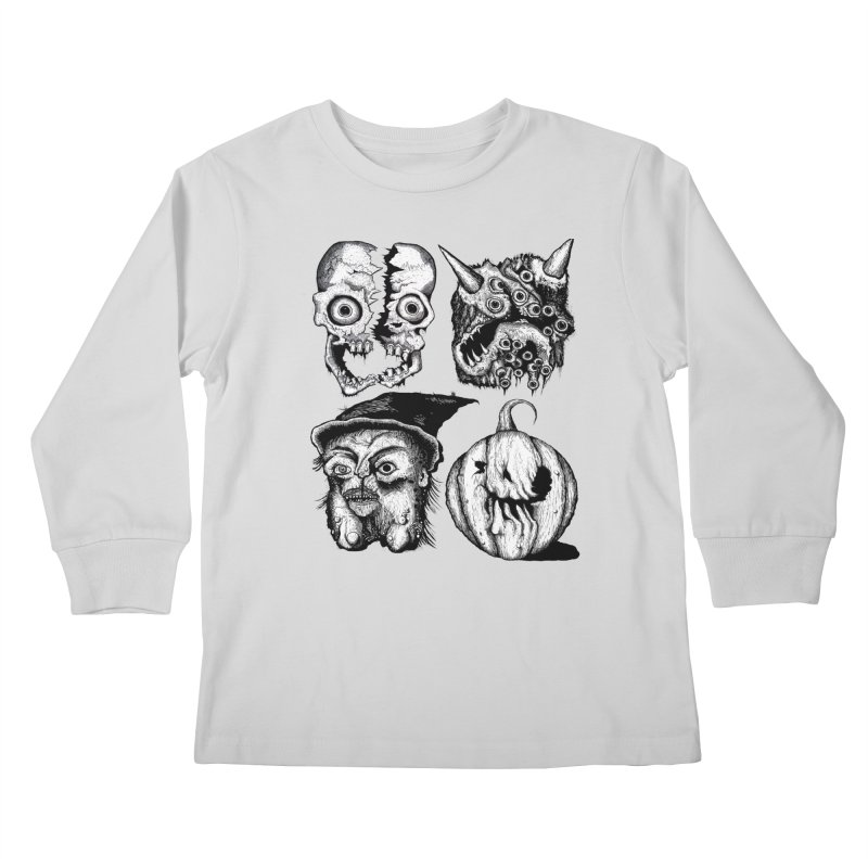 Halloween Heads Kids Longsleeve T-Shirt by stampedepress's Artist Shop