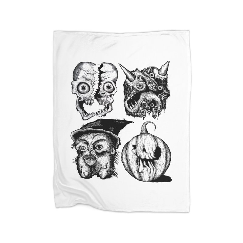 Halloween Heads Home Blanket by stampedepress's Artist Shop