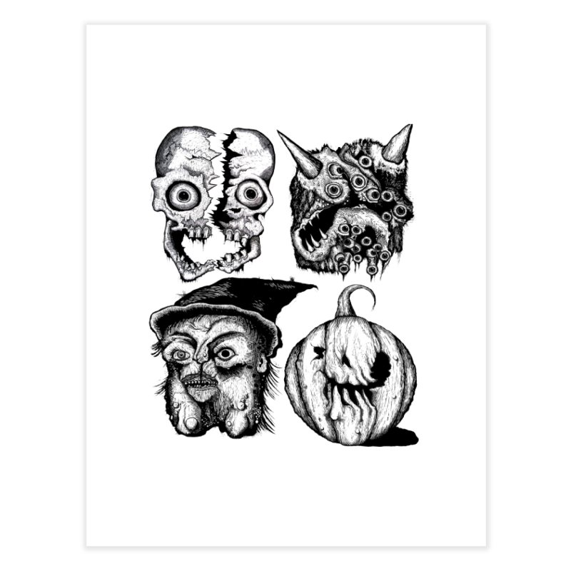 Halloween Heads Home Fine Art Print by stampedepress's Artist Shop