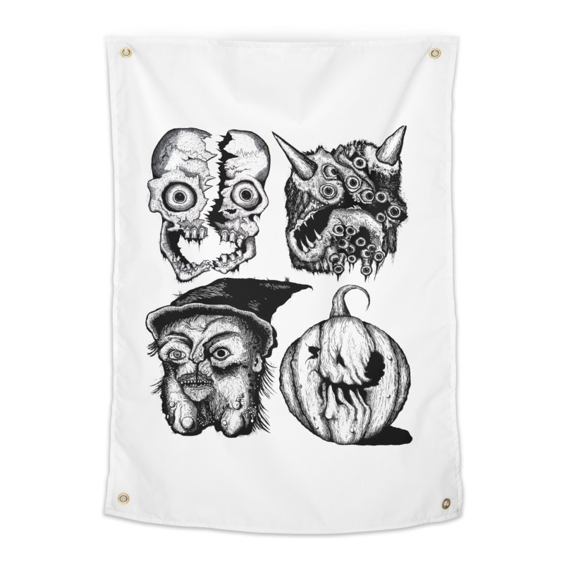 Halloween Heads Home Tapestry by stampedepress's Artist Shop