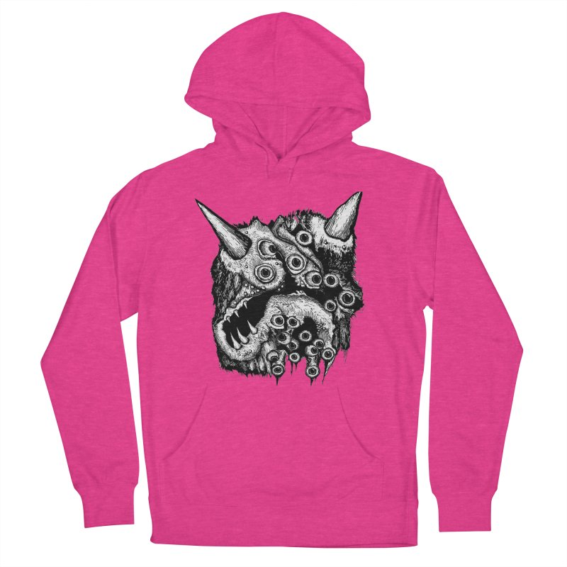 Monster Eyeball Demon Woodcut Women's Pullover Hoody by stampedepress's Artist Shop