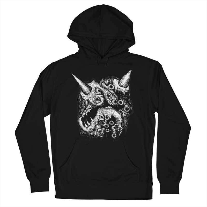 Monster Eyeball Demon Woodcut Women's French Terry Pullover Hoody by stampedepress's Artist Shop