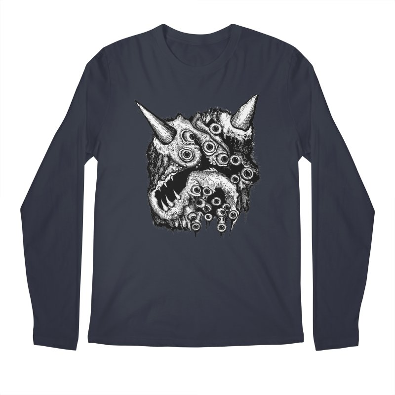 Monster Eyeball Demon Woodcut Men's Longsleeve T-Shirt by stampedepress's Artist Shop
