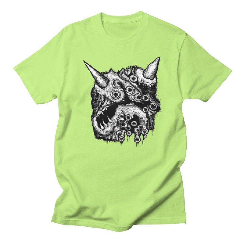 Monster Eyeball Demon Woodcut Men's Regular T-Shirt by stampedepress's Artist Shop