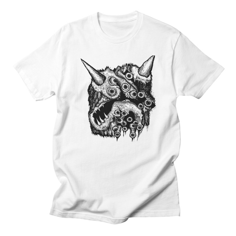 Monster Eyeball Demon Woodcut Men's T-shirt by stampedepress's Artist Shop