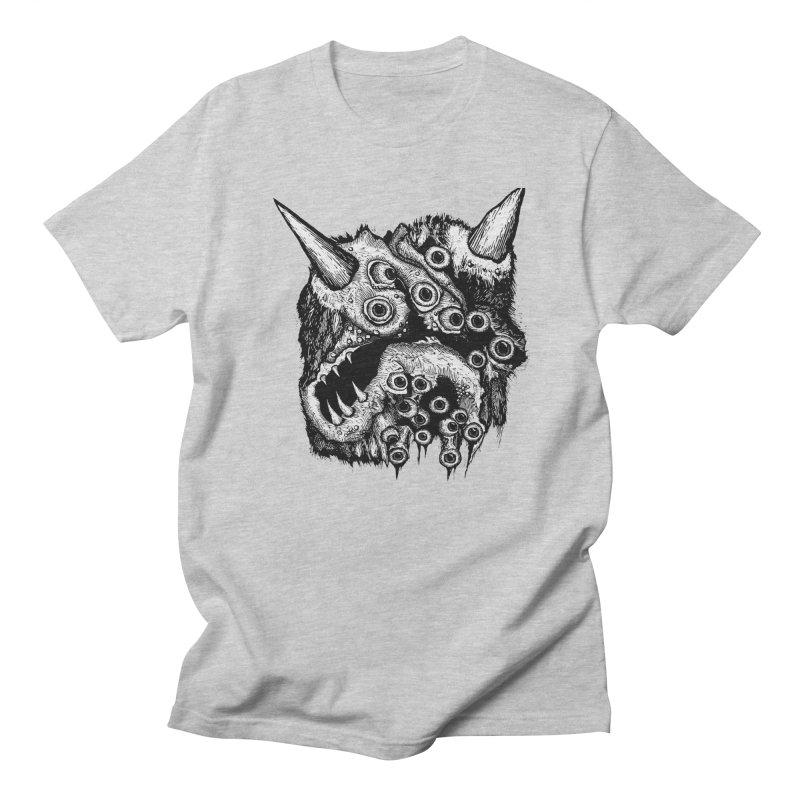 Monster Eyeball Demon Woodcut Women's Unisex T-Shirt by stampedepress's Artist Shop